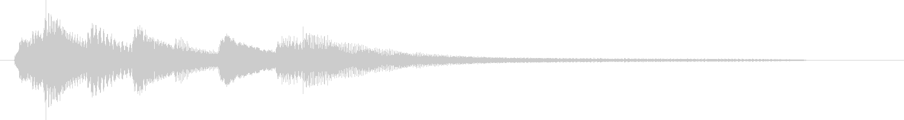 爽やかでシンプルなピアノのみのジングルの未再生の波形