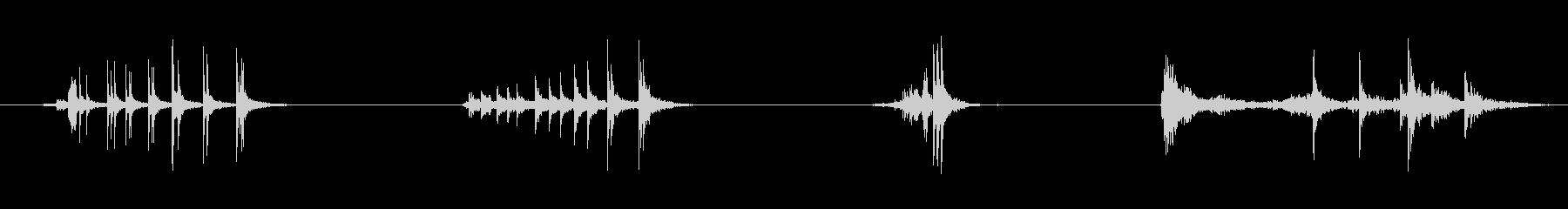 ドアメタルクリークx4の未再生の波形