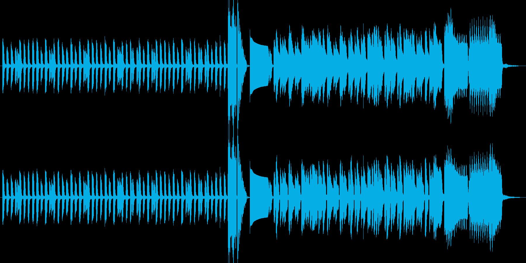 昔ながらのレトロゲームサウンドの再生済みの波形