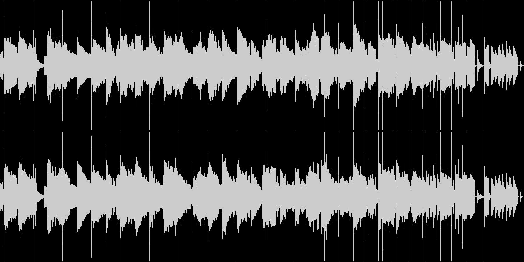 トランペット、サックスBGM(ループ)の未再生の波形