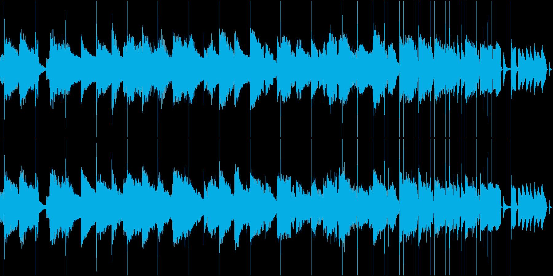 トランペット、サックスBGM(ループ)の再生済みの波形
