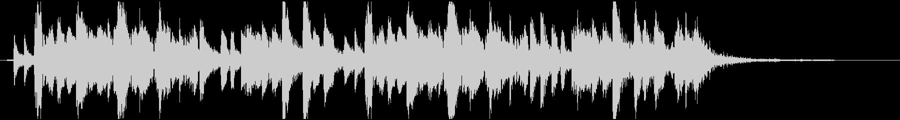 琴、尺八、三味線と祭囃子の和風曲 12秒の未再生の波形