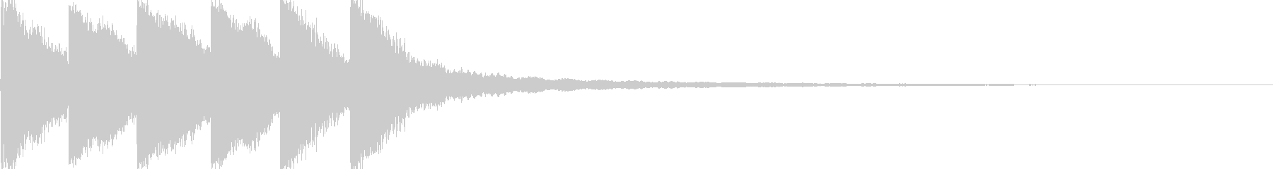 カンカンカンカーンの未再生の波形