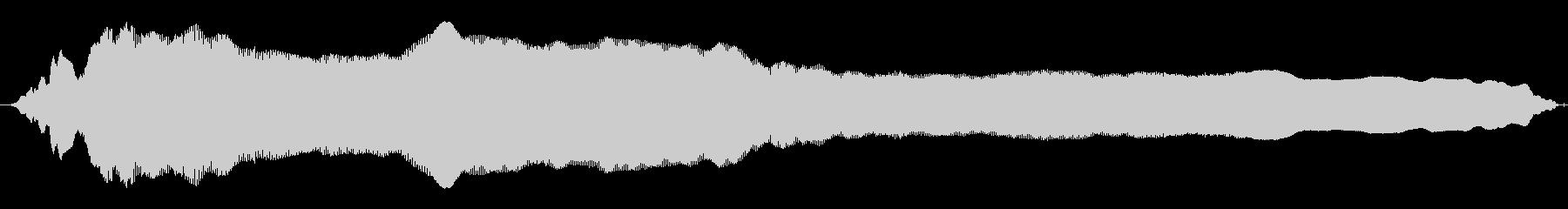 成人女性:ロングホラースクリームの未再生の波形