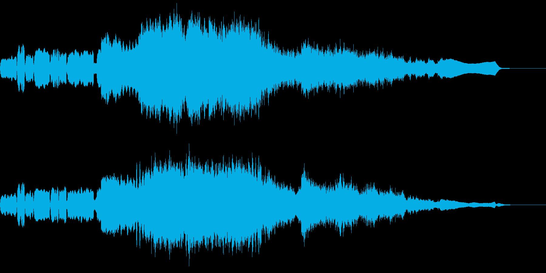 和風のミステリー風。笛ソロ→弦の再生済みの波形