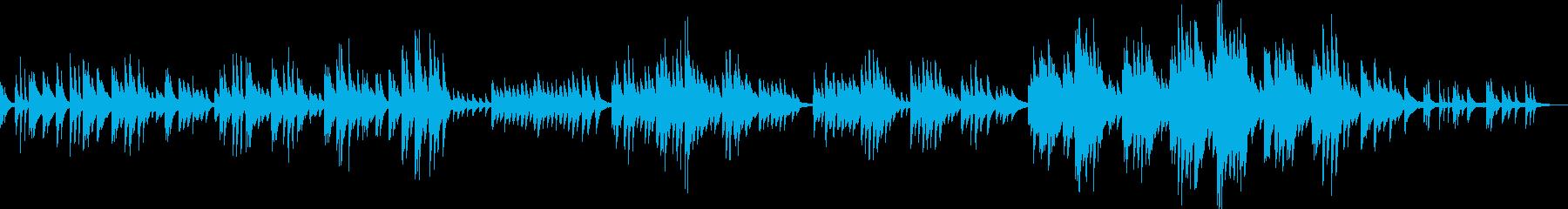 切なくて感動的なピアノバラードの再生済みの波形