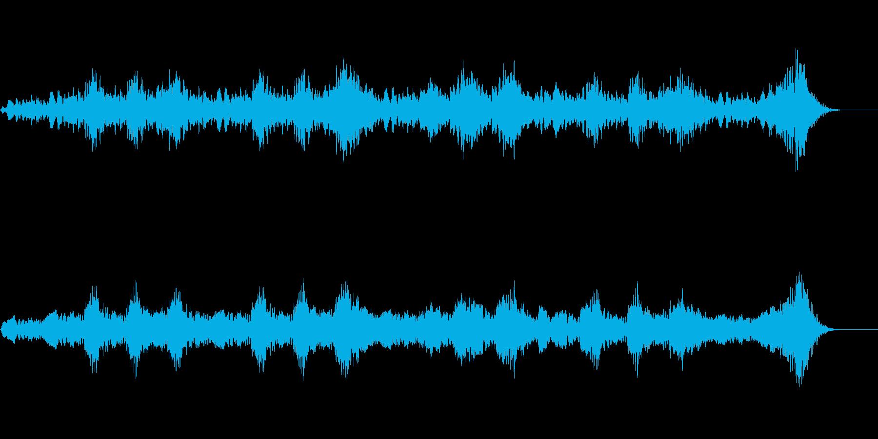 ゆったり優しい、透明感のあるハンドベル曲の再生済みの波形