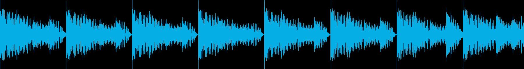 BPM128EDMリズムループ キーFの再生済みの波形