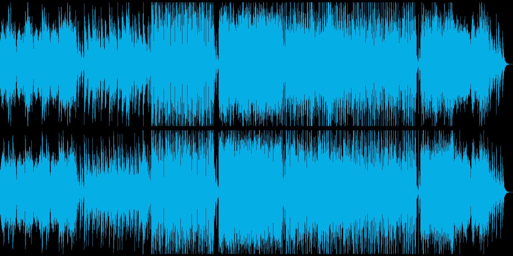 象・恐竜の絶滅後の情景、エレクトロニカの再生済みの波形