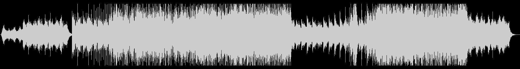 逆境から立ち上がるロックピアノインストの未再生の波形