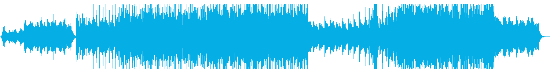 逆境から立ち上がるロックピアノインストの再生済みの波形