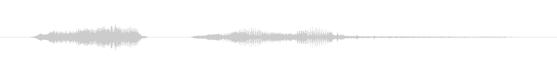 鳴き声 男性のうめき痛いダブル01の未再生の波形