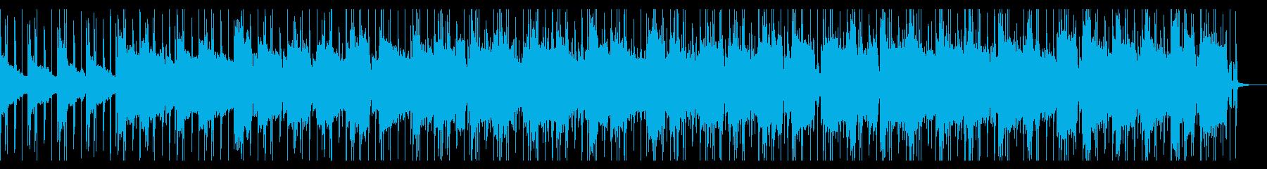 トラップ風のおしゃれなヒップホップの再生済みの波形