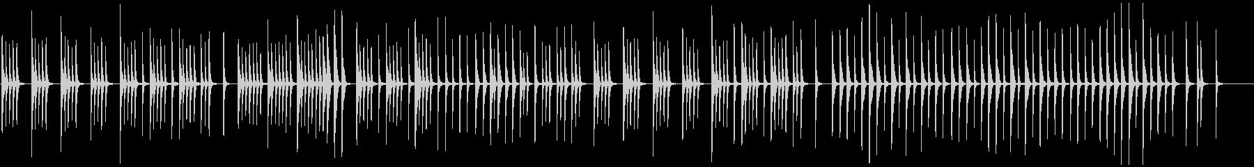 眠りや安心、癒し映像にほのぼのとした木琴の未再生の波形
