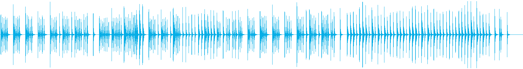 眠りや安心、癒し映像にほのぼのとした木琴の再生済みの波形