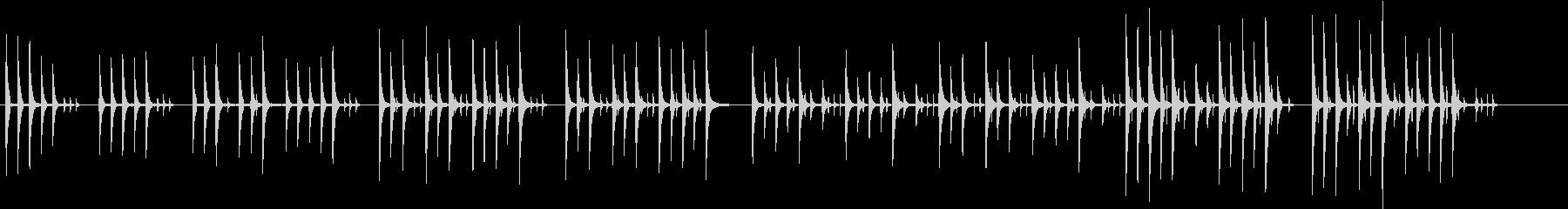 コミカルでほのぼのした雰囲気の曲の未再生の波形