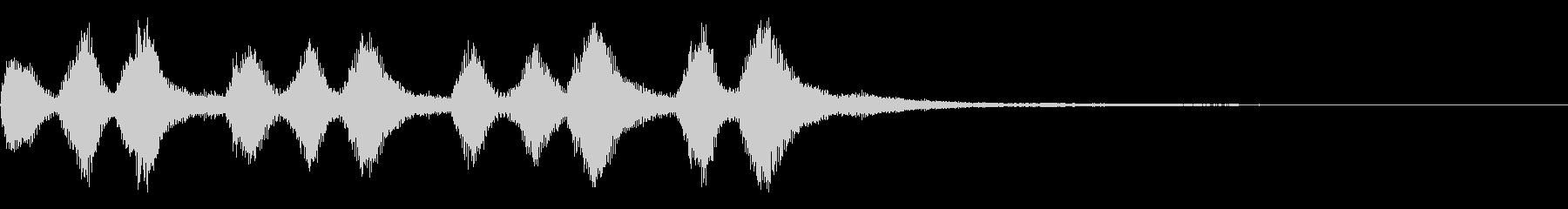 ストリングスの軽快なジングルの未再生の波形