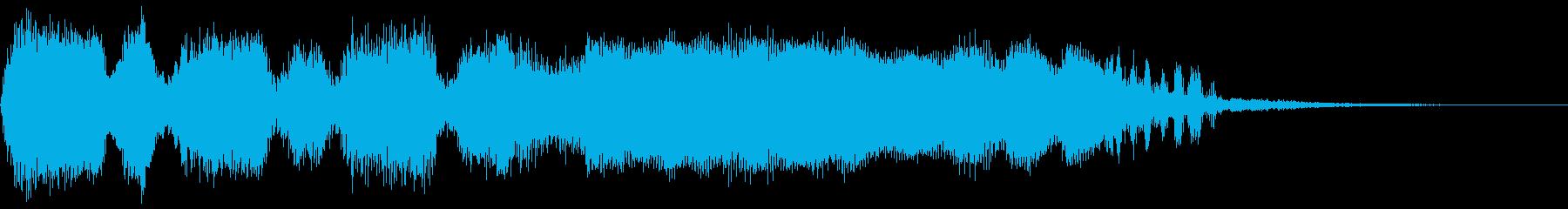 失敗時のファンファーレ1の再生済みの波形