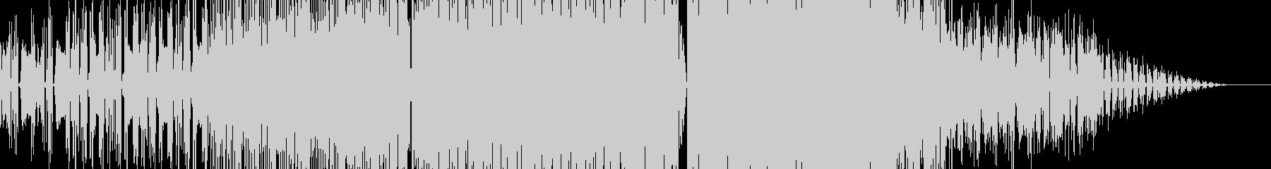 ポップで切ないエレクトロニックなBGMの未再生の波形