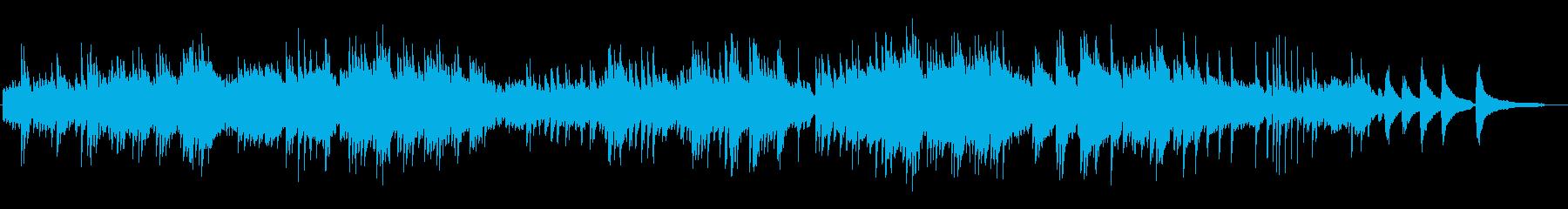 素朴で暖かいクラシック的なピアノBGMの再生済みの波形
