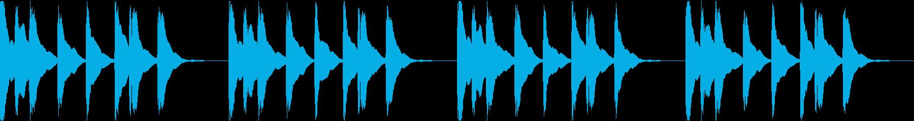 シンプル ベル 着信音 チャイム C-4の再生済みの波形