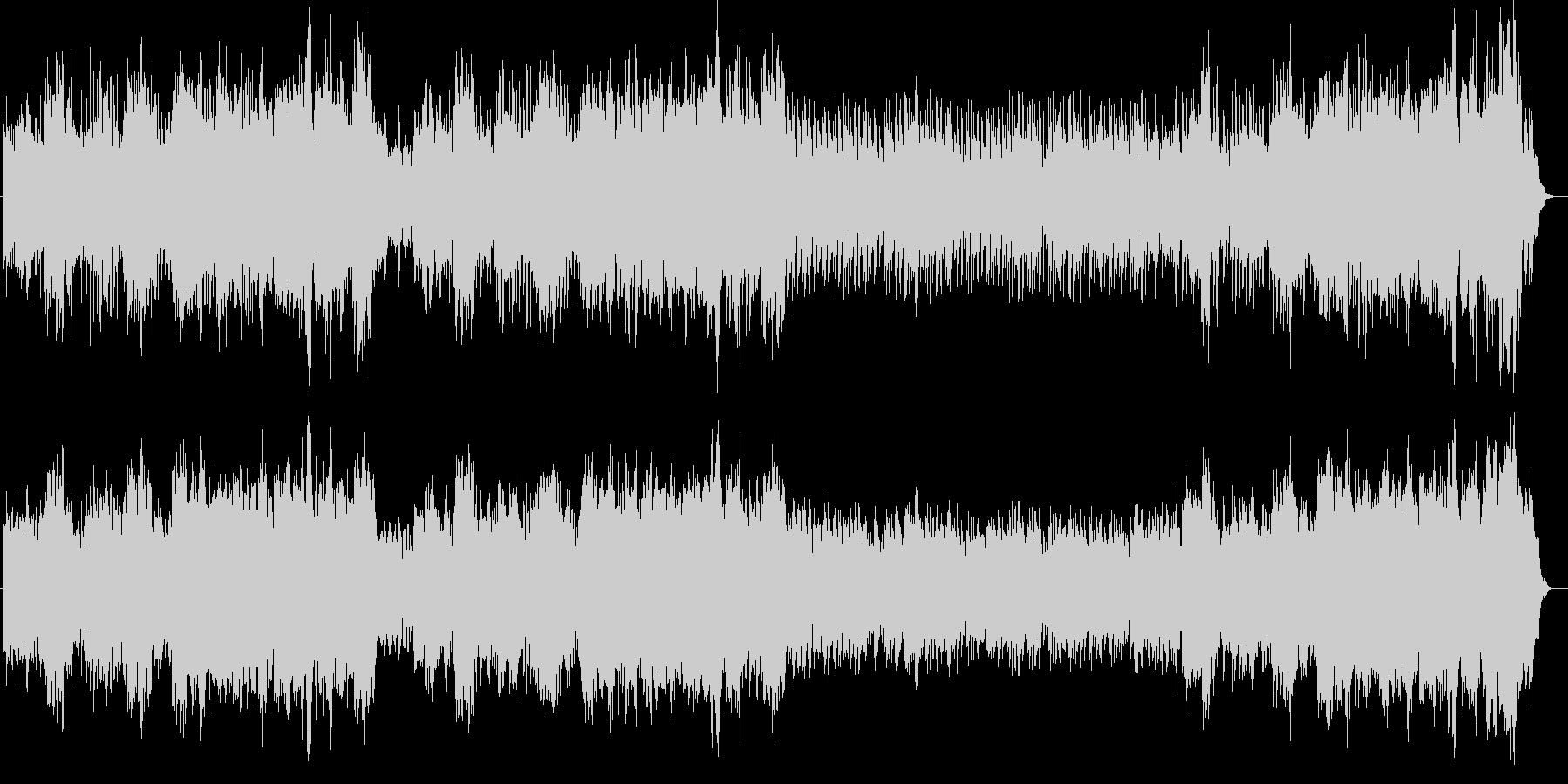 クラシック調のヒーリングミュージックの未再生の波形