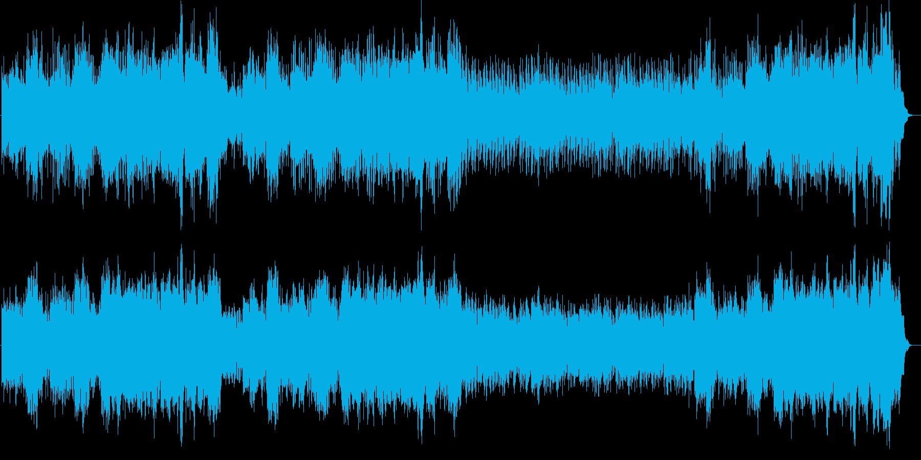 クラシック調のヒーリングミュージックの再生済みの波形