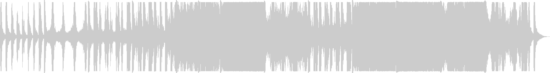 ダイナミックなオーケストラ曲の未再生の波形