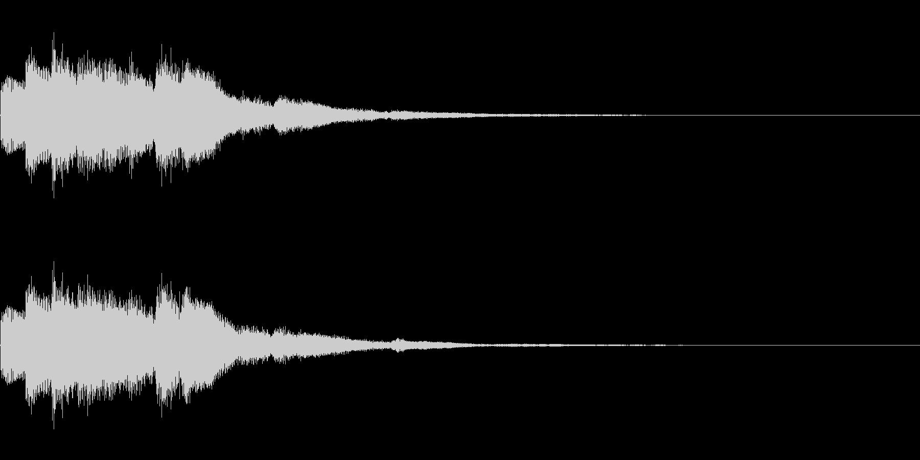 キラリン(明るくポジティブな上昇音)の未再生の波形