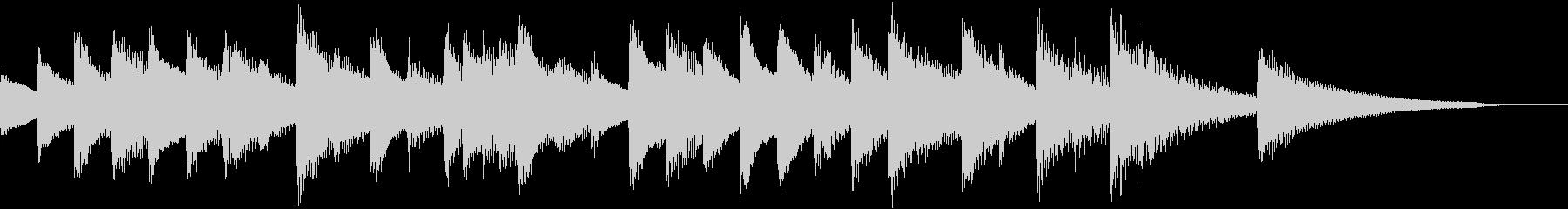 懐かしく淡いメロディのピアノジングルの未再生の波形