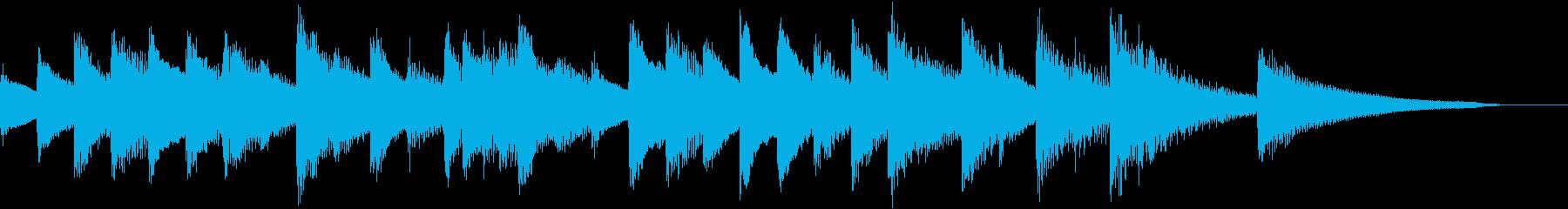 懐かしく淡いメロディのピアノジングルの再生済みの波形