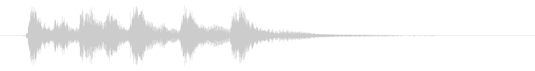 ピチカートのシンプルなジングル その4の未再生の波形