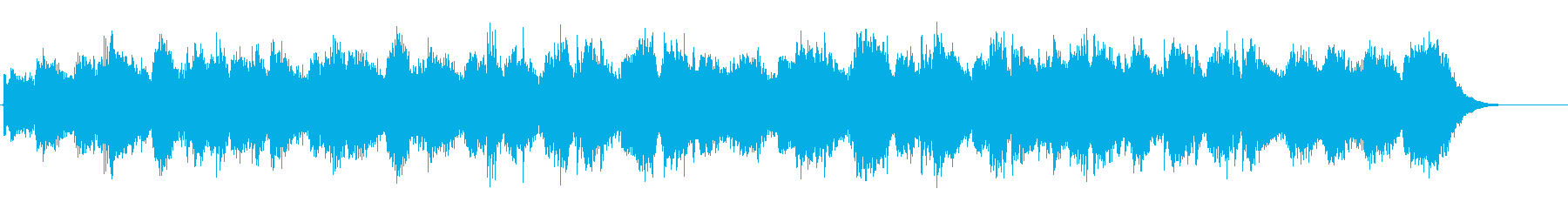 環境音楽(ニューエイジ系)の再生済みの波形