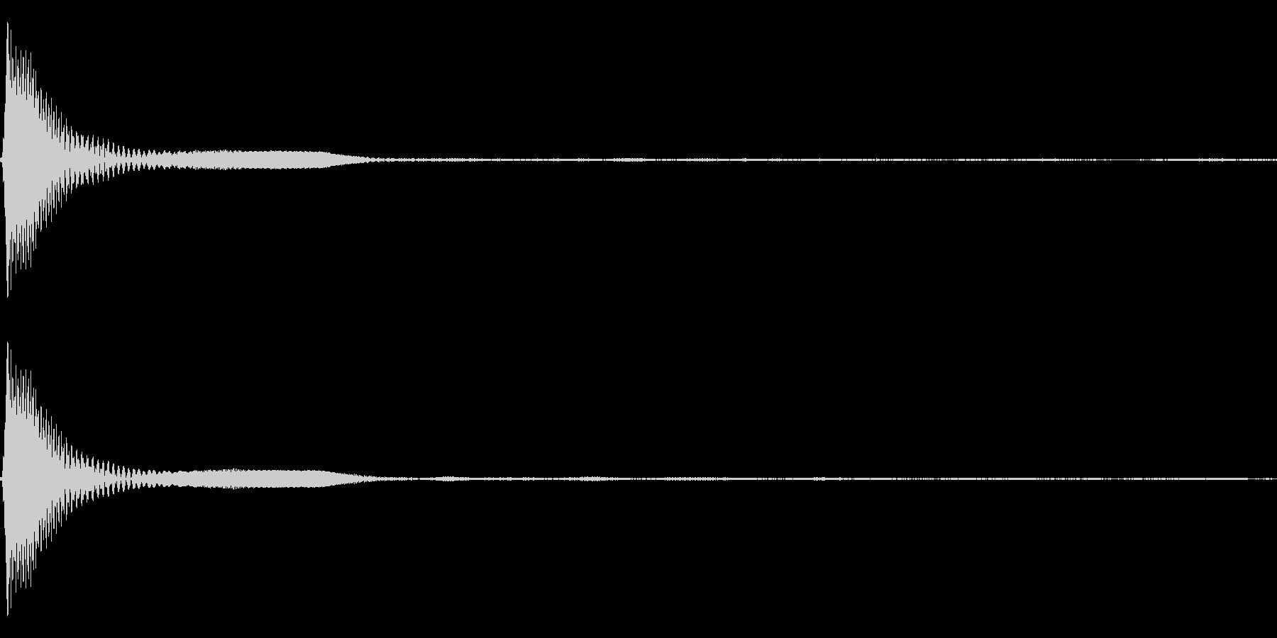 Count カウントダウン 単発音 2の未再生の波形