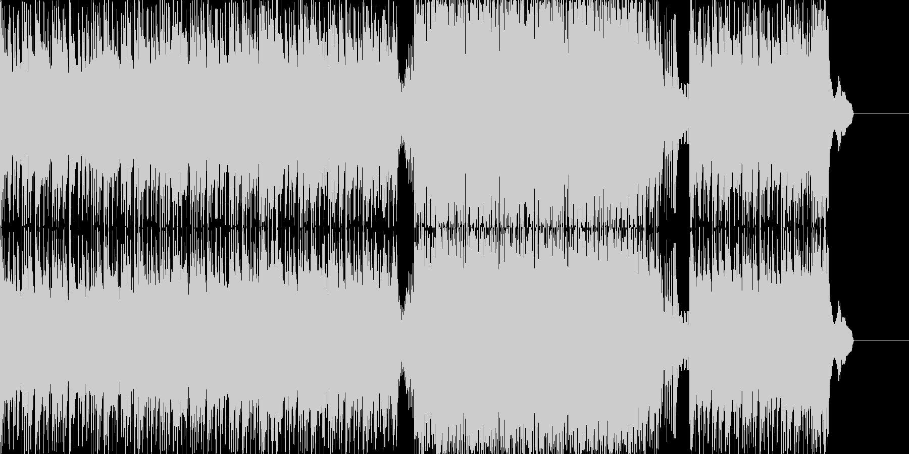 ハードで近未来なドラムンベースの未再生の波形