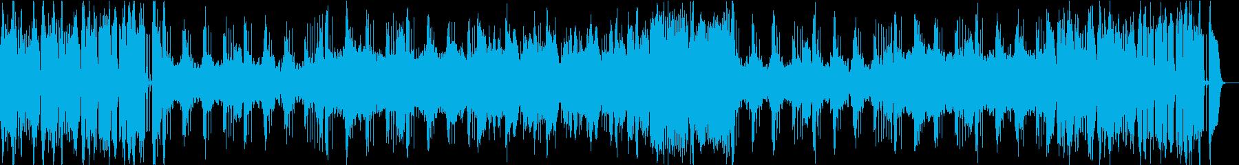 山あり谷ありな雰囲気のBGMの再生済みの波形