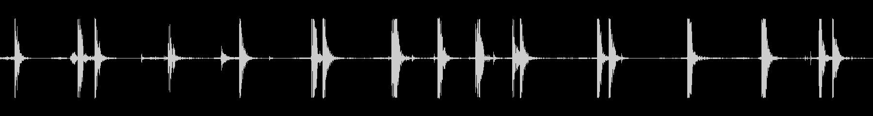 足音ブートストンプヒトラーcの未再生の波形