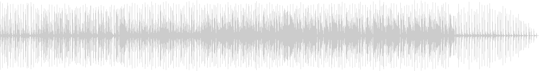 テレビ番組の研究番組で流れるような音楽の未再生の波形
