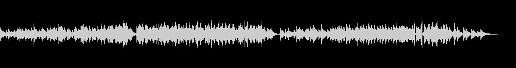 ピアノオンリーの綺麗な楽曲の未再生の波形