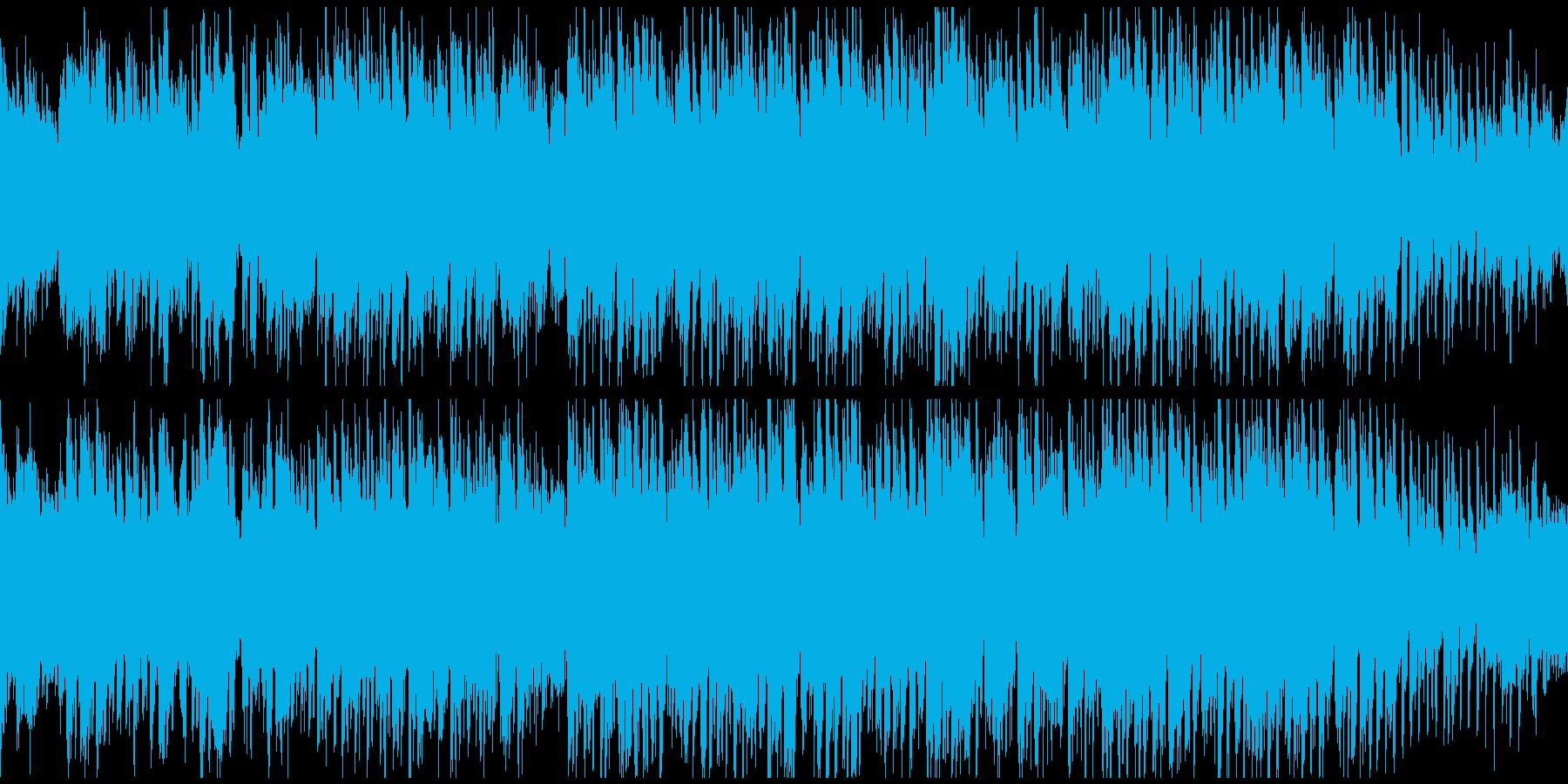 お祭り&ディスコな奇天烈和風曲※ループ版の再生済みの波形