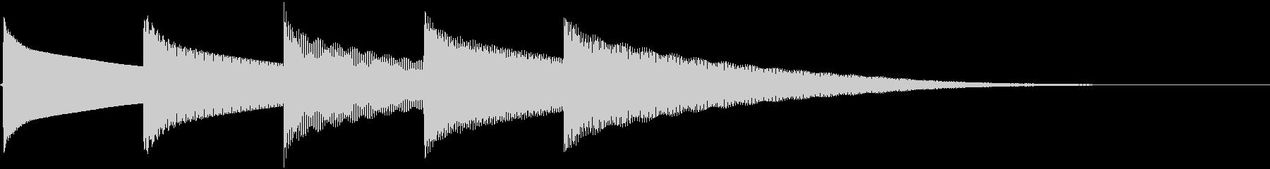 昼休みの時間を告げるチェレスタの音の未再生の波形