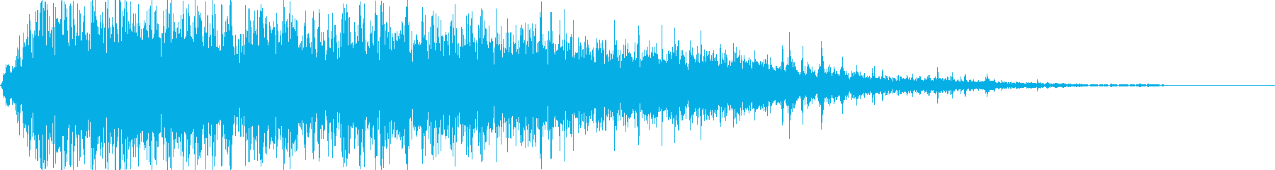 火炎魔法(強烈な火炎放射)の再生済みの波形