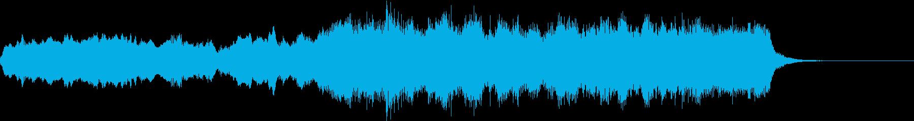 短いドラマチックオーケストラの再生済みの波形