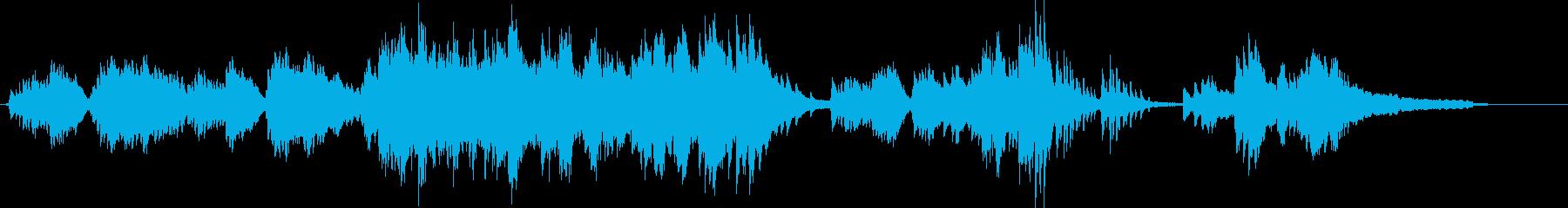 美しい旋律が印象的なピアノ曲の再生済みの波形
