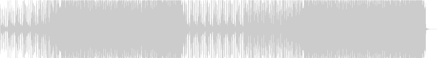 疾走感のあるエレクトロハウスの未再生の波形
