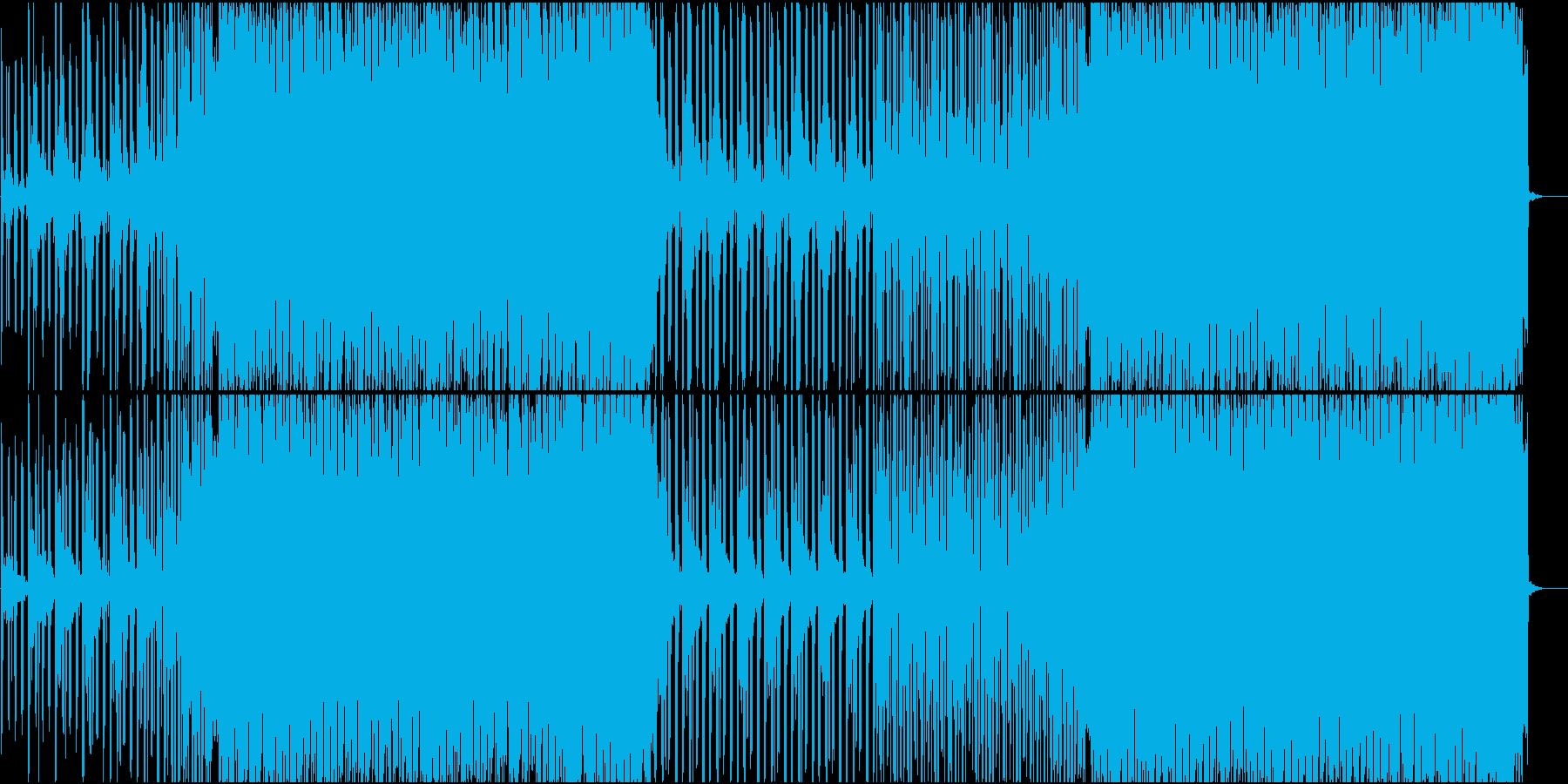 疾走感のあるエレクトロハウスの再生済みの波形