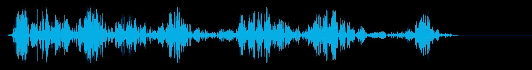 シュワワ(ロープの音)の再生済みの波形