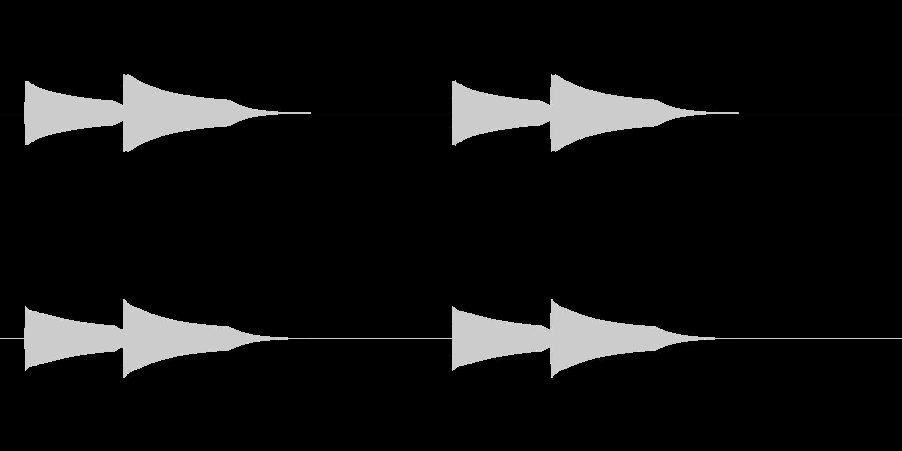 ピンポーン(インターホン)2回 半音高いの未再生の波形