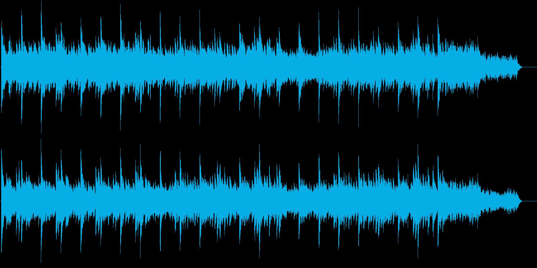 ピアノ&シンセパッドのバラードBGMの再生済みの波形