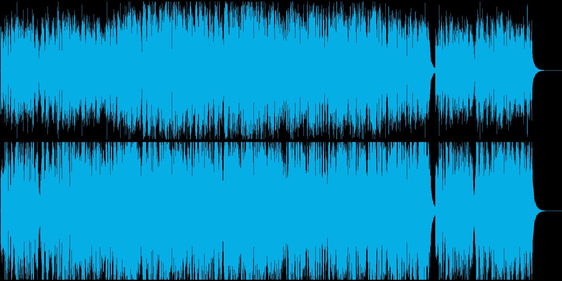 電子的なシンセサイザーによるミュージックの再生済みの波形